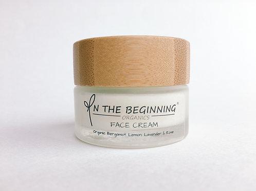 Organic Vegan Face Cream ~ Bergamot, Lemon, Lavender, Rose