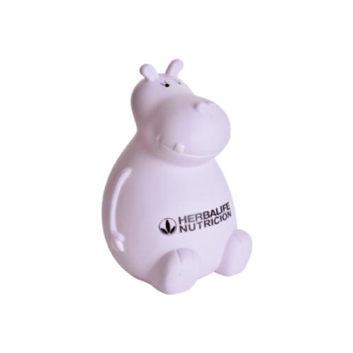 132. Alcancía hipopotamo