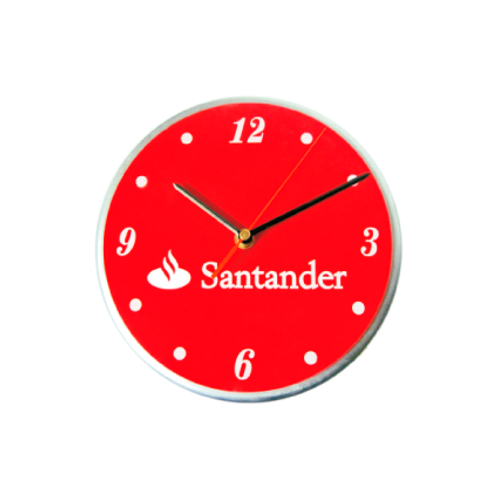 370. Reloj madera y acrílico Ø 22 cm