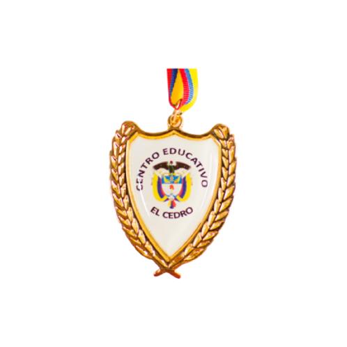 M21. Medalla con baño de oro
