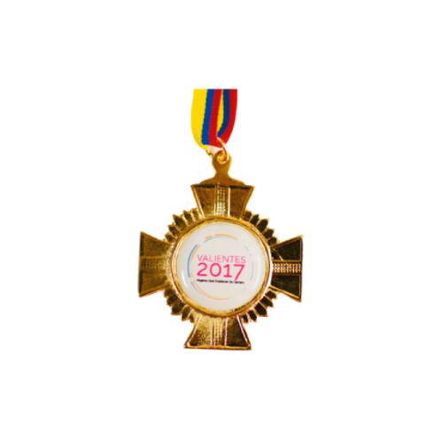 M25. Medalla con baño de oro