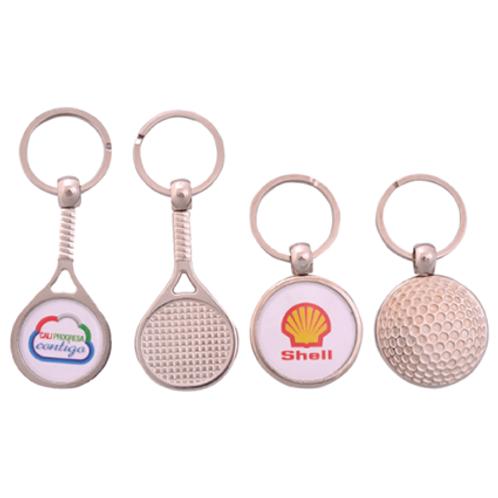 030. Llavero metálico golf y raqueta