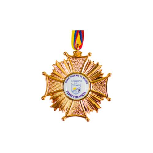 M26. Medalla con baño de oro