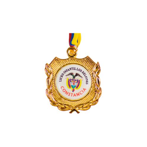 M16. Medalla con baño de oro
