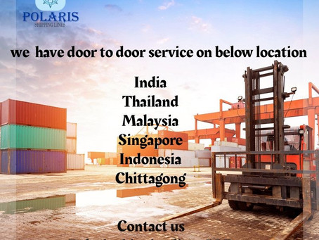 Our door to door services between Intra Asia and Indian sub continent