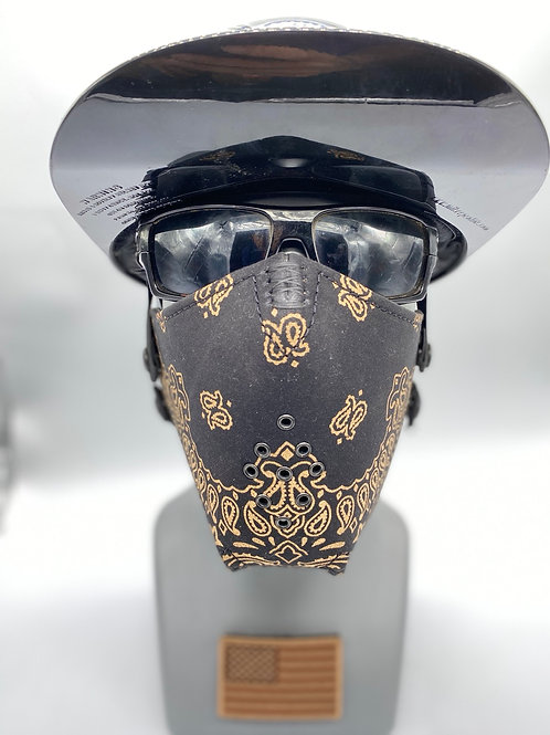 Designer Black and Gold Bandana