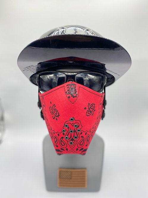 Designer Red with Black Bandana