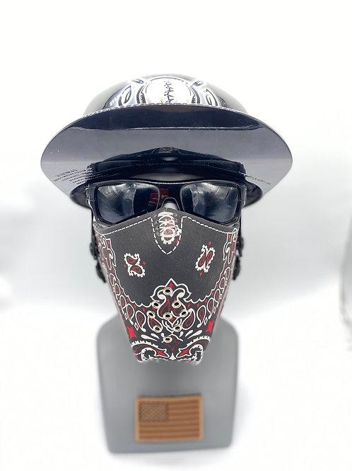 Designer Black with Red and White Bandana