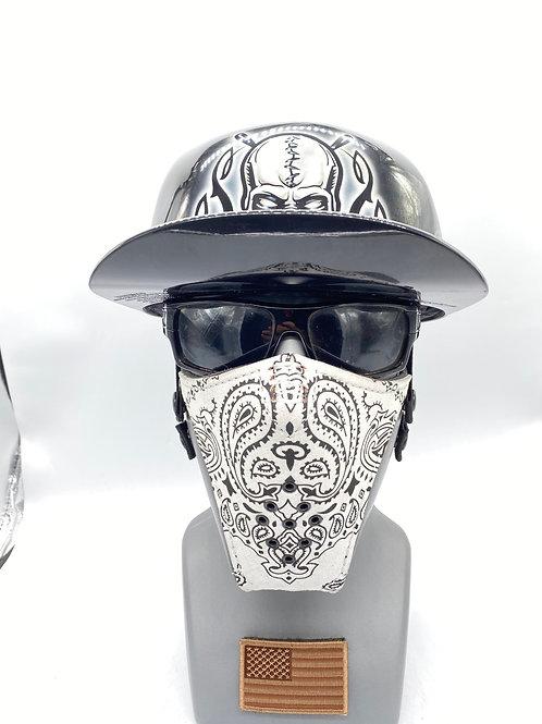 Designer White Bandana Sheild