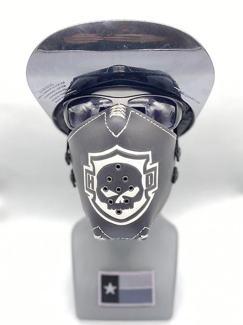 Designer Mask HD inspired Black and White Leather Mask