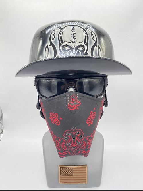 Designer Black with Red Bandana