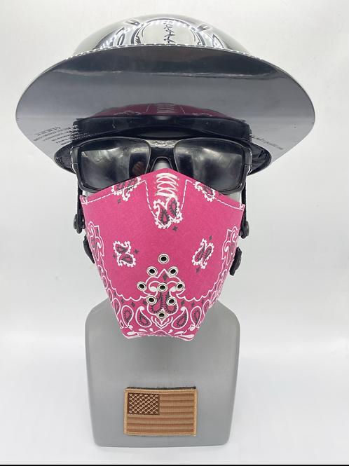 Women's Designer Mask Pink Bandana