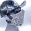 Thumbnail: Designer Mask Grey Bandana Wrap