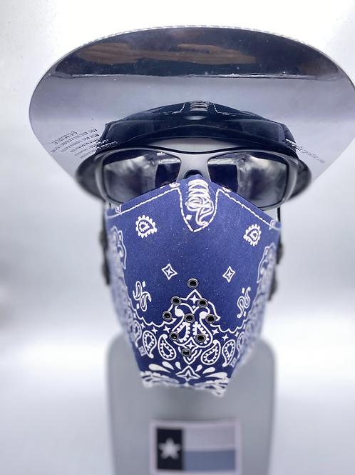 Designer Mask Navy Blue Bandana Wrap