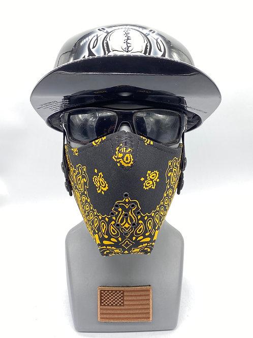 Designer Black with Yellow Bandana