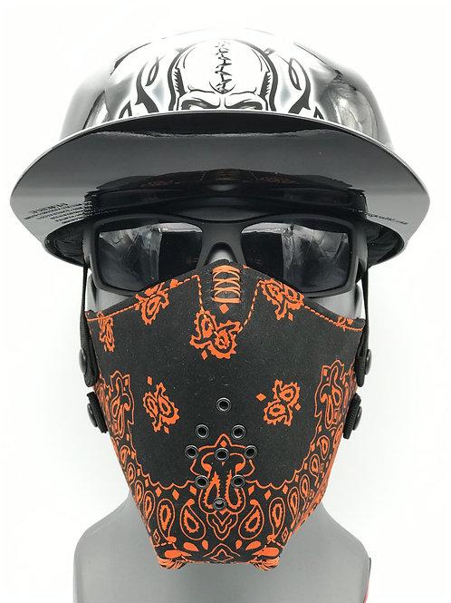 Pro Mask Black and Orange Bandanna