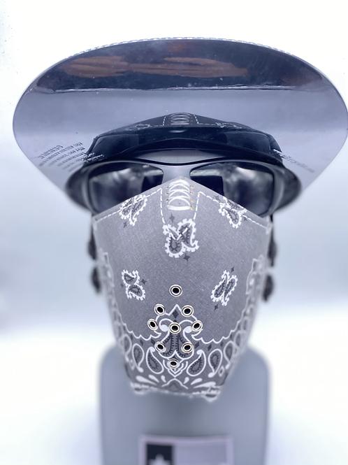 Designer Mask Grey Bandana Wrap
