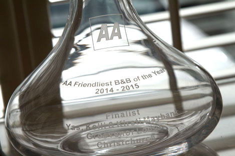 AA friendliest B and B of the Award