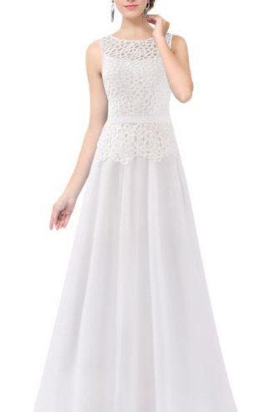 Biele krajkové šaty 8904 SKLADOM