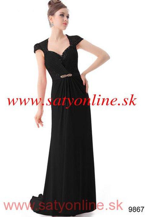 Čierne krajkové šaty 9867 SKLADOM