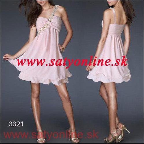 Ružové krátke šaty 3321 SKLADOM