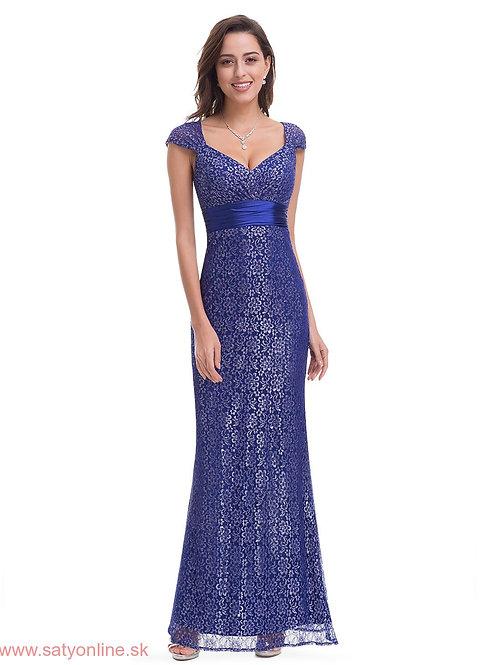 Modré krajkové šaty 8798