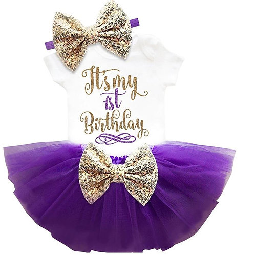 Purple Birthday SET 1 s korunkou EM