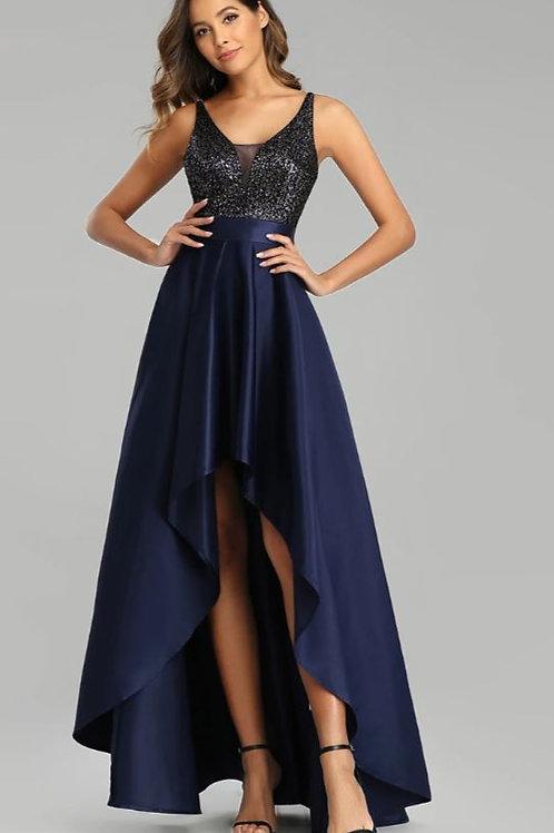 Tmavo modré šaty 0667