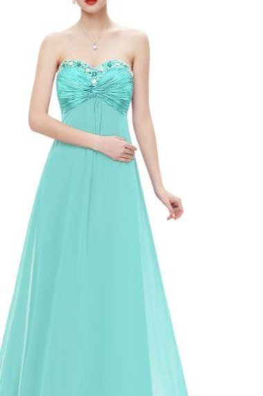 Tyrkysové spoločenské šaty 9568 SKLADOM