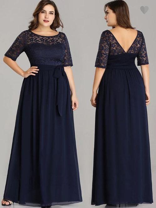 Tmavo modré spoločenské šaty 7624