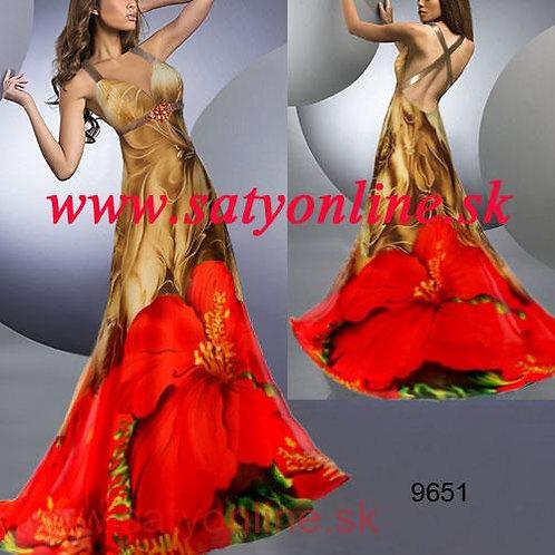 Kvetované spoločenské šaty 9651 SKLADOM