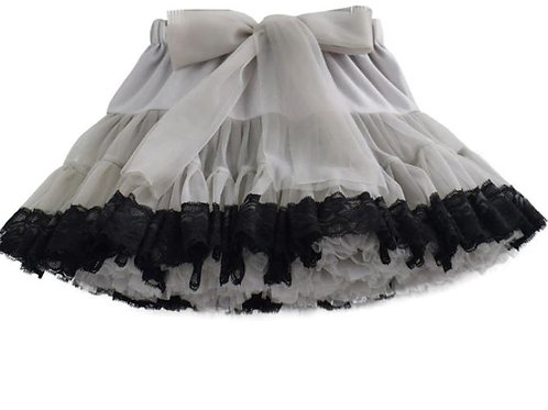 Sivá DOLLY s čiernou krajkou SKLADOM
