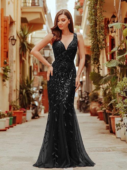 Čierne spoločenské šaty 7764 SKLADOM