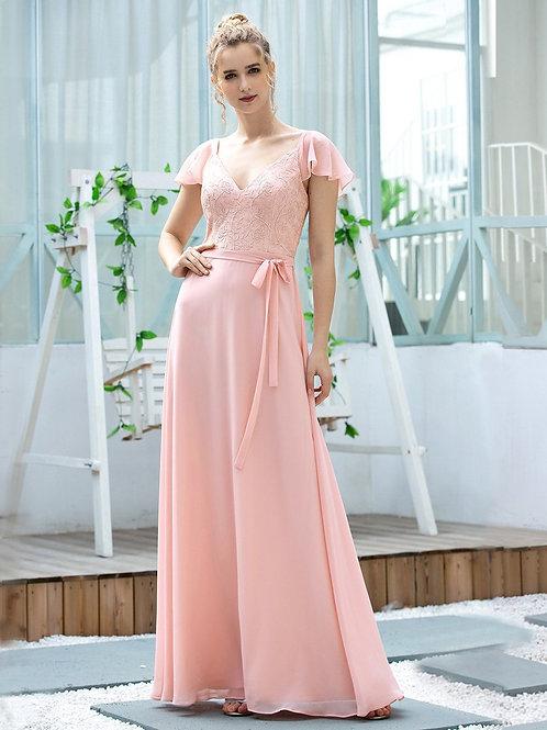 Ružové spoločenské šaty 0656