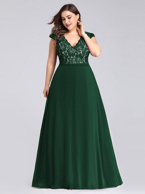 Zelené spoločenské šaty 7344