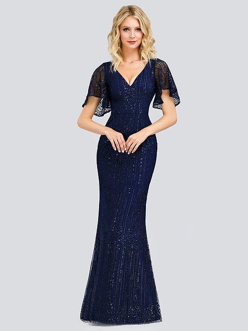 Modré spoločenské šaty 0838 SKLADOM