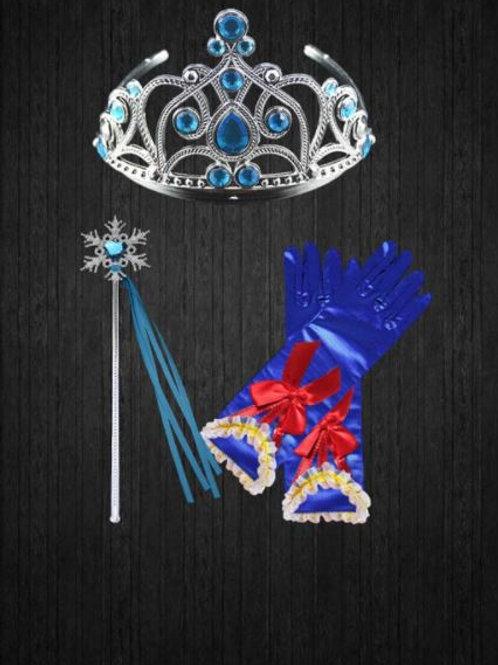 Snow White Doplnky pre Princeznu- korunka,palička,rukavičky