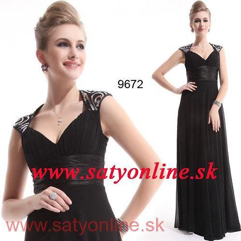Čierne spoločenské šaty 9672 SKLADOM