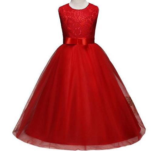 Červené dievčenské šaty
