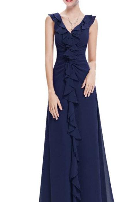 Tmavo modré šaty 8219 SKLADOM