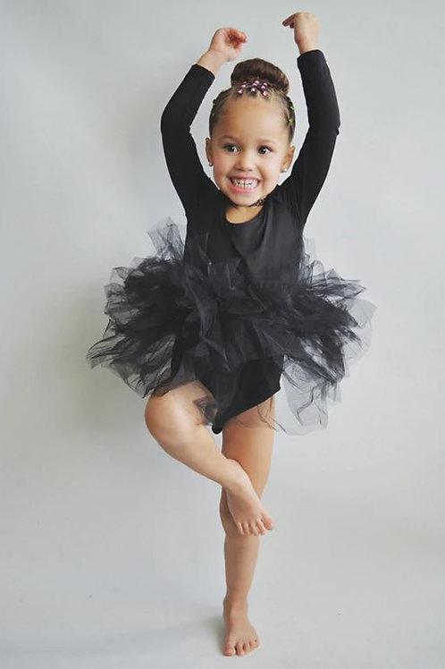 Čierne TUTU Body ŠATY na Balet