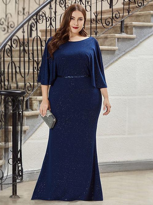 Modré šaty MOLETKA 0527