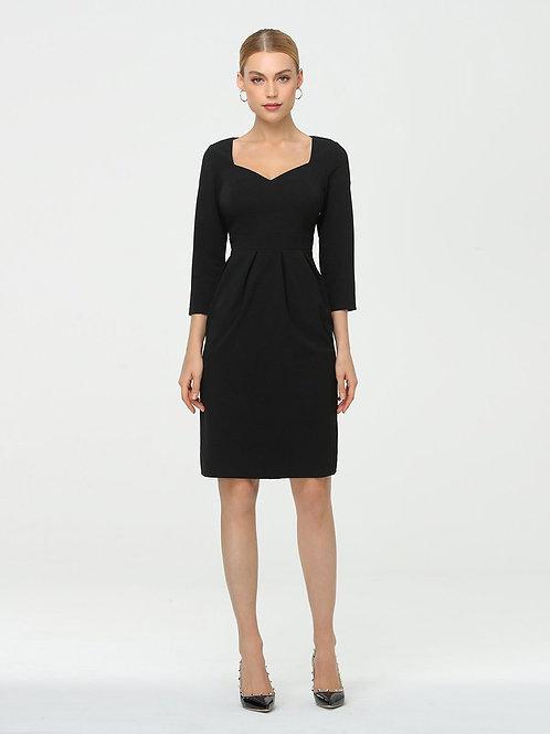 Čierne krátke šaty s rukávom