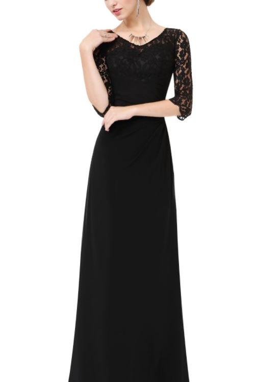 Čierne krajkové šaty 8861