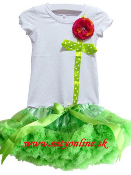 Neon Green Flower Dolly SET