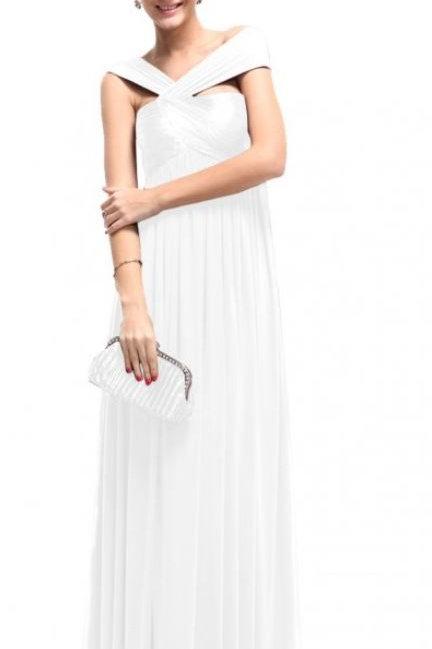 Biele elasticke šaty 9464 SKLADOM