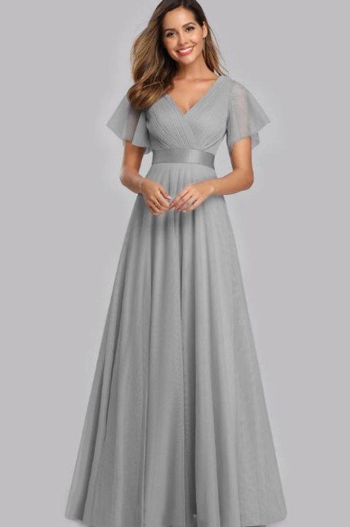 Spoločenské šaty Strieborné 7962