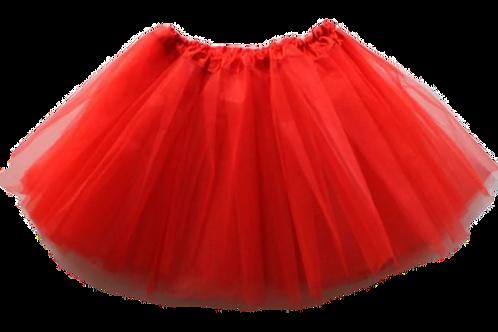 Červená TUTU suknička 44cm