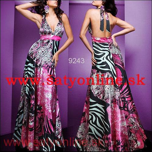Vzorované šaty 9243 SKLADOM