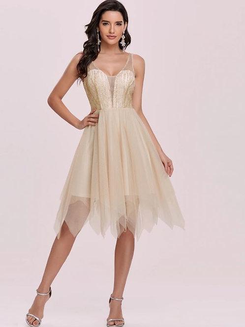 Zlaté krátke šaty